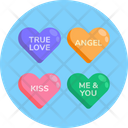 Love Hearts Hearts Love Message Icon