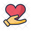 Heart Love Hand Icon