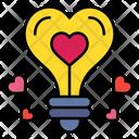 Love Idea Idea Bulb Icon