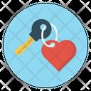 Love Heart Key Icon