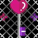 Key Love Heart Icon