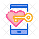 Heart Key Dating Icon