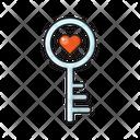 Key Lock Heart Icon