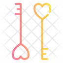 Key Love Romance Icon