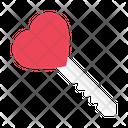 Love Key Heart Icon