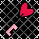 Love Key Love Heart Icon