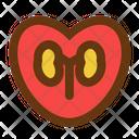 Love Kidney Medicine Health Icon