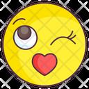 Love Kiss Emoticon Icon