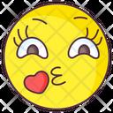 Love Kiss Emoji Love Kiss Expression Emotag Icon
