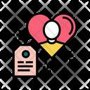 Present Label Love Icon