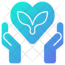 Love Leaves Nature Love Icon