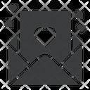 Letter Romance Valentines Icon