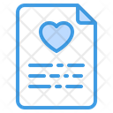 File Document Love File Document Icon