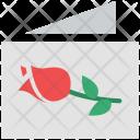 Card Rosebud Rose Icon
