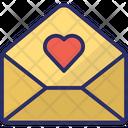 Love Letter Love Message Love Correspondence Icon