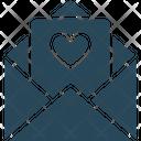 Letter Love Letter Heart Icon