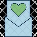 Letter Love Letter Valentine Card Icon