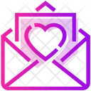 Valentine Day Mail Heart Icon