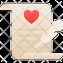 Love Letter Letter Love Story Icon