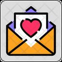 Valentine Day Mail Heart Icon