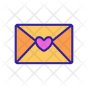 Wedding Envelope Contour Icon