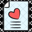 Love Letter Wedding Invitation Romantic Letter Icon