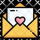 Love Letter Wedding Invitation Letter Icon