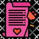 Love Letter Letter Rose Icon