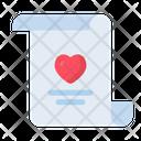 Love And Romance Wedding Invitation Valentines Day Icon