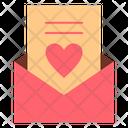 Letter Paper Love Icon