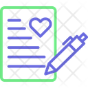 Letter Letter Writing Love Icon