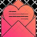 Love Letter Letter Heart Icon