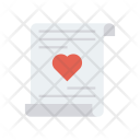 Letter Heart Page Icon