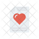 Letter Page Heart Icon
