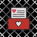 Love Letter Open Letter Heart Icon