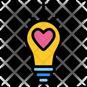 Love Light Light Bulb Idea Icon