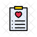 Heart List Clipboard Icon