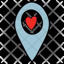 Love Location Icon