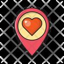 Love Location Heart Icon