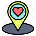Location Heart Love Icon