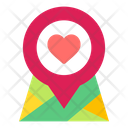 Location Love Heart Icon