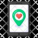 Love Location Like Location Heart Location Icon