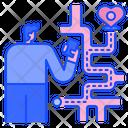 Map Heart Valentine Icon