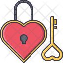 Key Lock Heart Icon