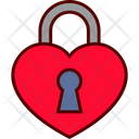 Love Heart Lock Icon
