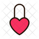 Love Lock Heart Lock Private Icon