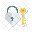 Heart Lock Access Icon