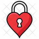 Heart Padlock Lock Padlock Icon