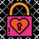 Love Lock Padlock Key Icon