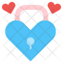 Love Lock Lock Valentine Icon